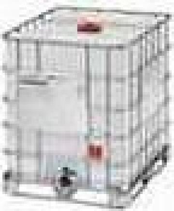 Container IBC-1000 l pe palet metalic de la Elkoplast Romania Srl.