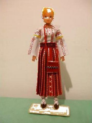 Papusa artizanat fata - Costum popular Gorj de la If Popescu M. Ana