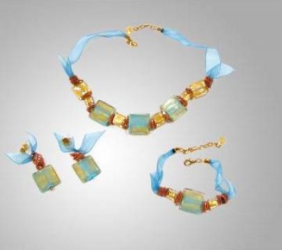 Set bijuterii Juliet (colier + bratara + cercei) de la Millefiori Srl
