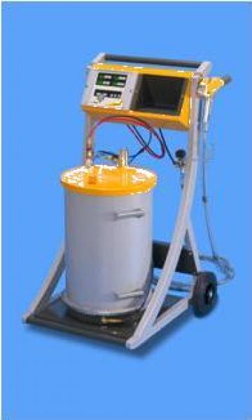 Instalatie de pulverizat in camp electrostatic OptiFlex de la S.c. Tim Electrocolor S.r.l.