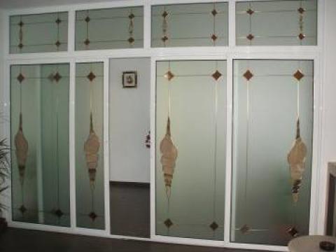 Tamplarie PVC si aluminiu cu vitralii - Constanta de la Gamaterm Design