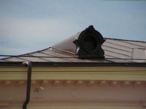 Tabla plana moale PLX Lindab, galvanizata, vopsita de 0,6 mm de la Loki Roof Srl