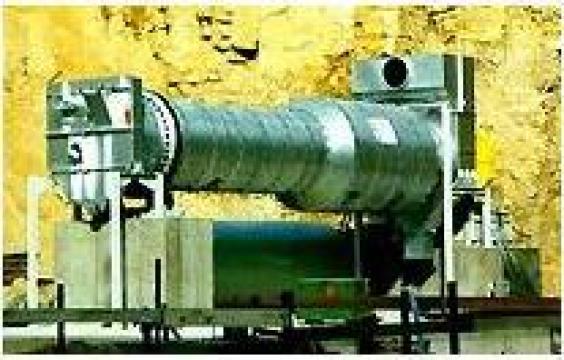 Cuptoare rotative pentru uscare minerale