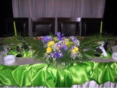 Aranjament floral masa prezidiu de la Camycris Srl