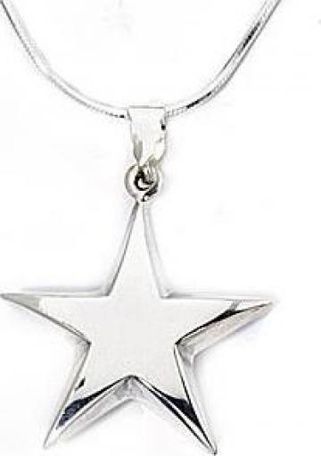 Lantisor + medalion stea, din argint de la Bijuteria Camelia