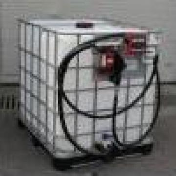 Container FDI- IBC cu pompa de distributie de la Elkoplast Romania Srl.