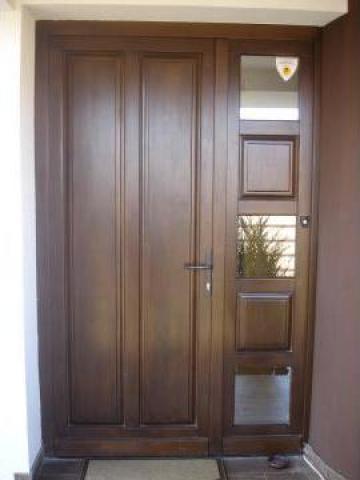 Usi ferestre pereti cortina din lemn triplustratificat - Modele usi termopan exterior duble ...