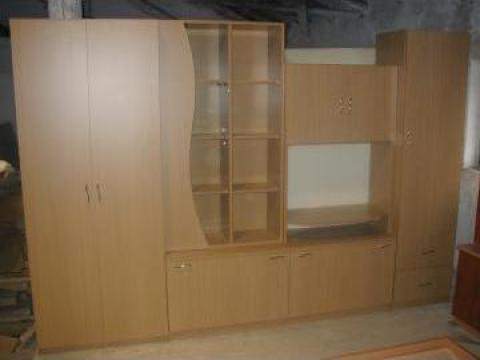 Mobilier de zi biblioteca din PAL melaminat de la Sc Bortis Impex Srl