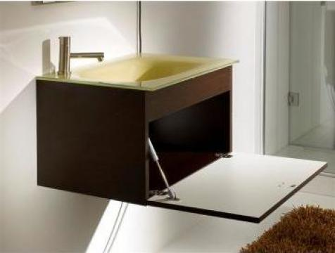 Mobilier de baie cu lavoar din sticla Replica 600
