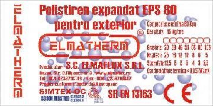 Polistiren expandat pentru exterior F80 grosime de la Sc Elmaflux Srl
