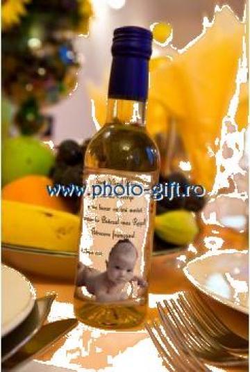 Marturii - sticla de vin personalizata de la Photo-Gift