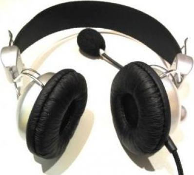 Casti audio cu microfon