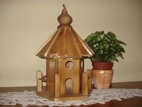 Decoratiune Cuib de pasari din lemn