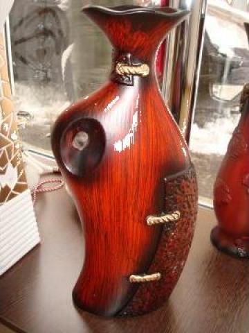 Vaza din ceramica cu imitatie de lemn de la S.c. Speednet Instal S.r.l.