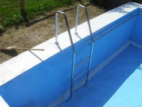 Mana curenta si scari din inox pentru piscine