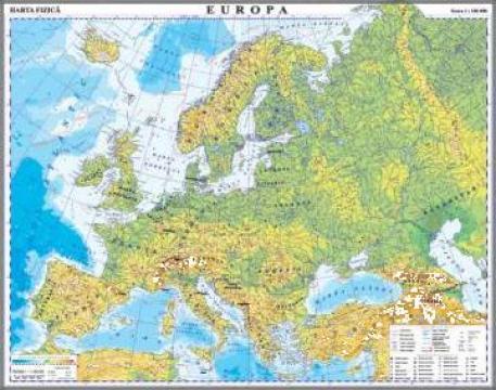 Harta Harta Fizica A Europei Detaliata