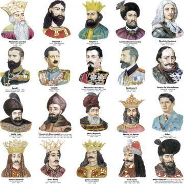 Portrete voievozi, domni si regi romani (20 portrete) de la Eurodidactica Srl