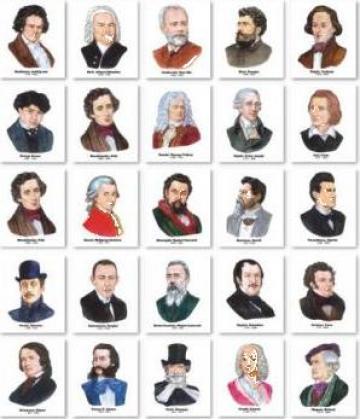 Set portrete - 25 compozitori de la Eurodidactica Srl