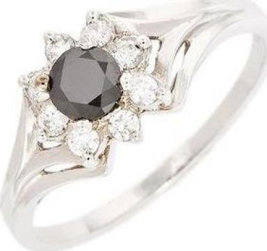 Inel aur 14K cu diamant de la Goldnet Distribution