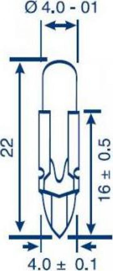 Bec telefonic T4.6, 28V, 40 mA