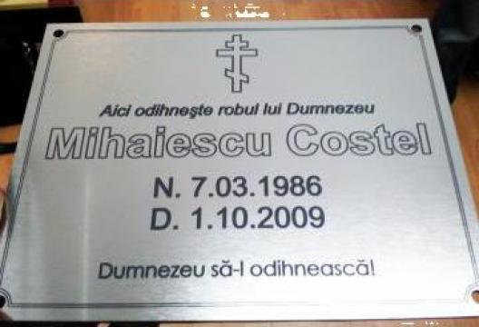 Placheta funerara de la Gravoshop