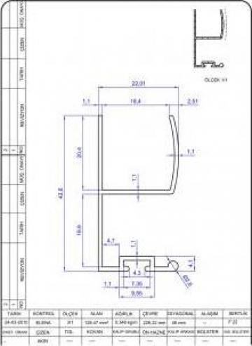 Profile din aluminiu pentru producerea mobilei de la Alarax Aluminiu