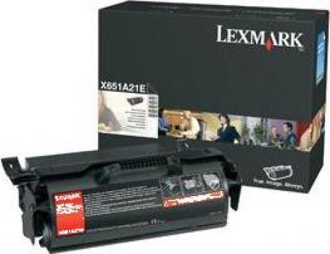Cartus Imprimanta Laser Original LEXMARK X651A21E de la Green Toner