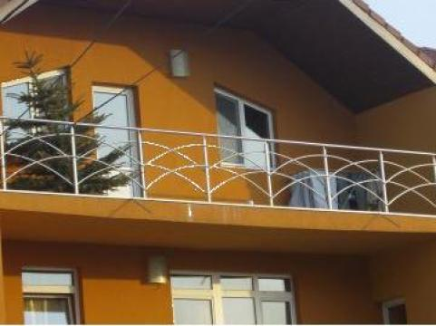 Balustrada inox cu cercuri de la Sc Ambient Inox Srl