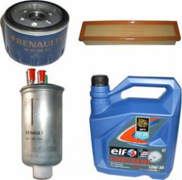 Kit pentru schimb ulei + filtre Dacia Logan Diesel Elf