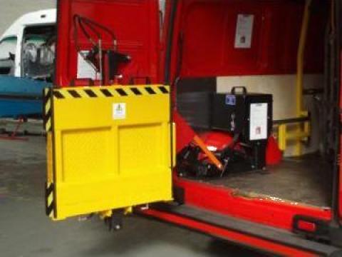 Oblon hidraulic Lift electric carucior incarcare furgon de la Modul-Stor Hungary Kft.