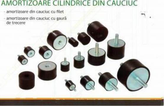 Garnitura cauciuc amortizor cilindric cu filet gaura trecere