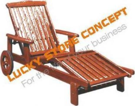 Fotoliu lemn plaja de la Lucky Store Solution SRL
