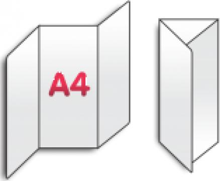 Pliant A4 impartit in 3
