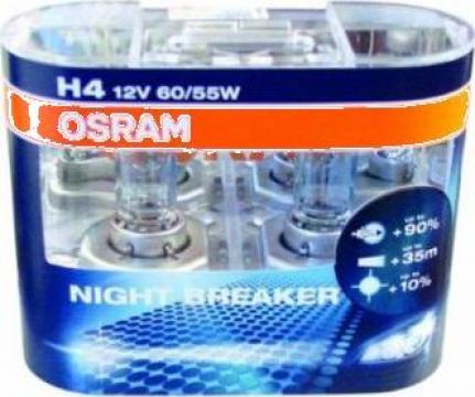 Becuri halogen H4 Osram Night Breaker Plus, 2 buc. de la Grup Auto Nord- Est