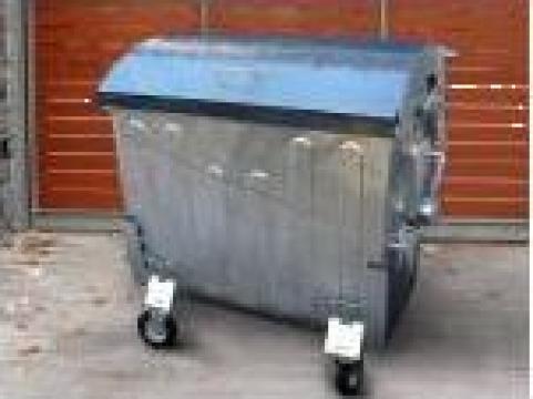 Container metalic zincat la cald pentru gunoi, 1100 l