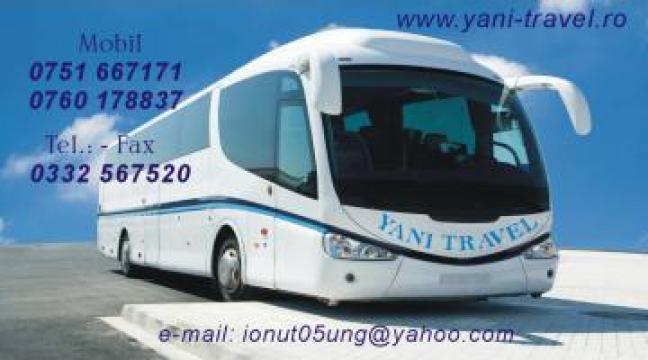 Transport persoane regulate saptamanale BARLAD-ITALIA de la Yani Travel SRL