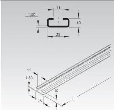 Sina C 25x10x1,5mm