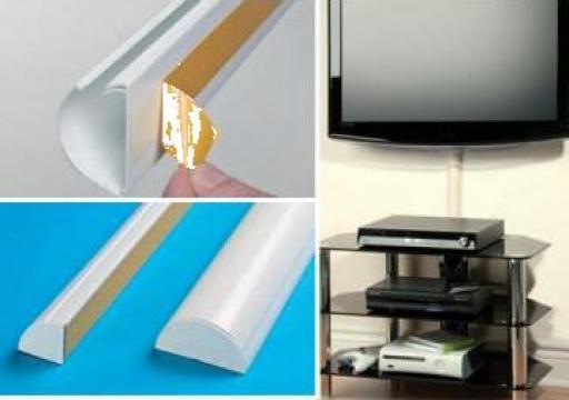 Pat de cablu Design semicerc alb cu autoadeziv D-Line 50x25 de la Photo & Data Image De Boot