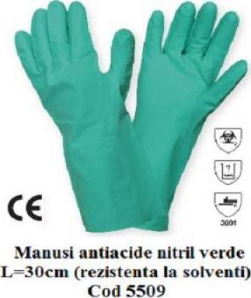Manusi protectie antichimice nitril 5509 de la Katanca Srl