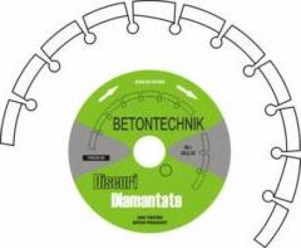 Disc diamantat pentru beton vechi armat BPT22/125 de la Baza Tehnica Alfa Srl