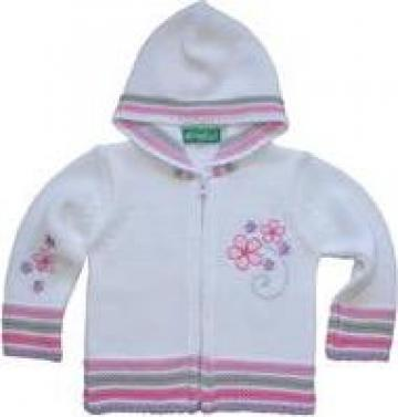 Jacheta pentru fete, cu gluga si broderie de la Kristel Group