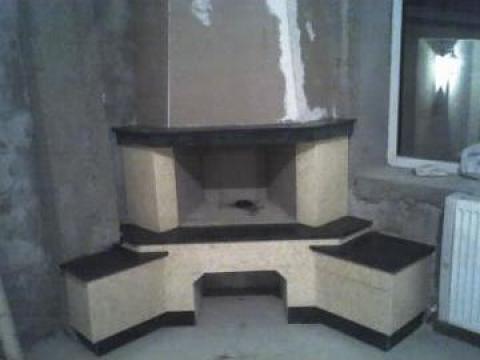 Semineu pe lemne, design modern de la Sud Design