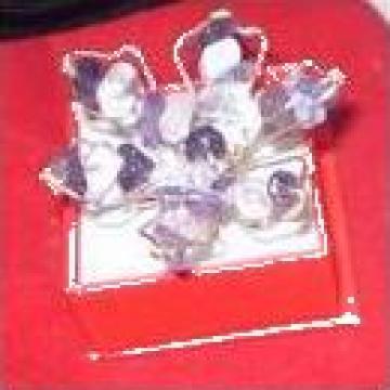 Inel floare cu ametist placat cu argint