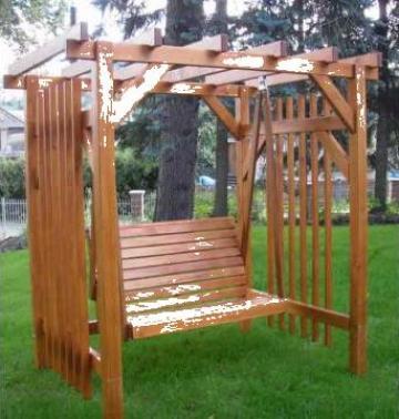 Balansoar lemn de la Amenajari Rustice Bucuresti