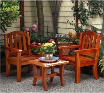 Masa si scaune rustice de la Amenajari Rustice Bucuresti