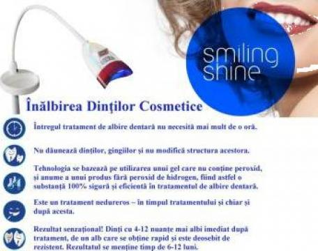 Lampa LED - albire cosmetica a dintilor de la Smiling Shine