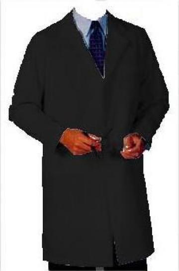 Halat negru barbatesc cu maneca lunga