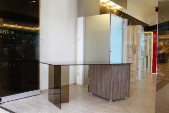 Birou din sticla + lemn de la Imperial Glass