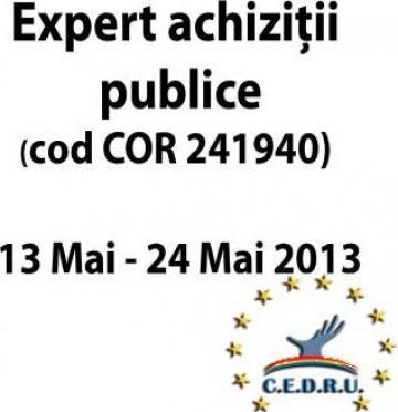 Curs Expert achizitii publice (COR 241940) de la Cedru - Centrul European Pentru Dezvoltarea Resurselor Umane
