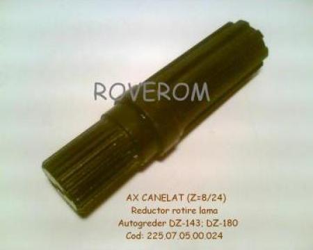 Ax canelat reductor rotire lama DZ-143; DZ-180 de la Roverom Srl